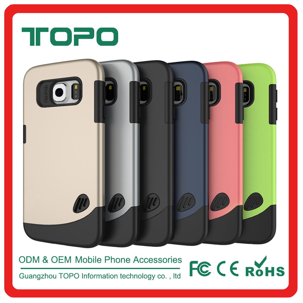 Wholesale new products PC+TPU combo shockproof ultra thin colorful mobile phone cover case for Samsung s6 s6 edge