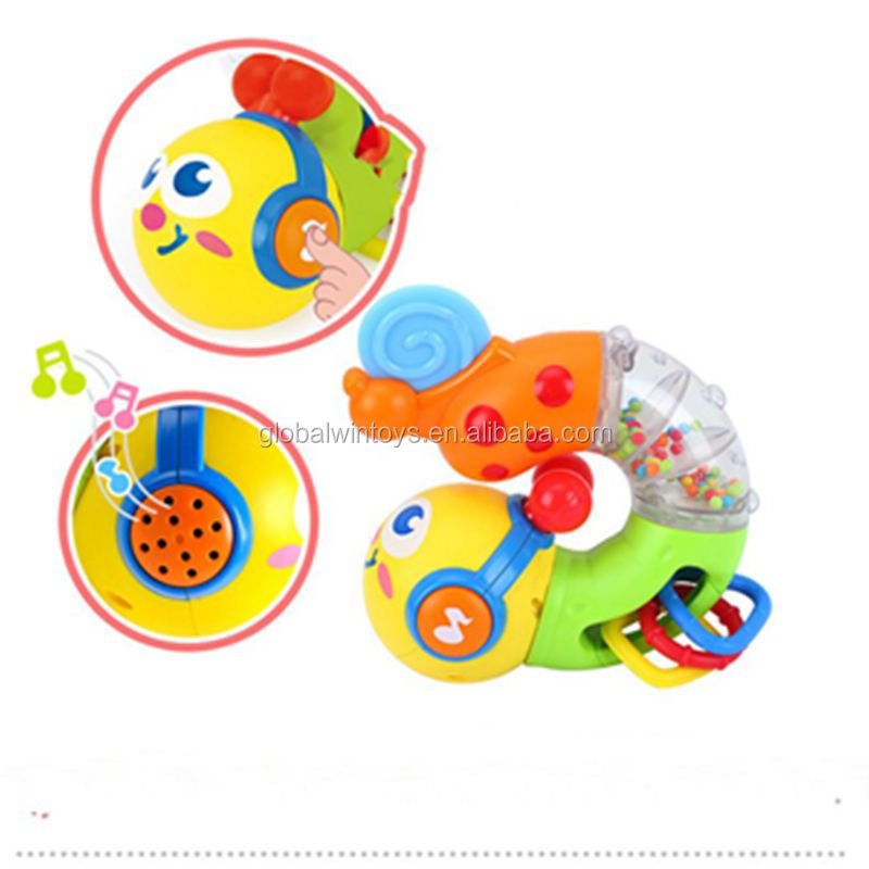HUILE 917 Baby Musical Twisting Worm Rattle Toys Safety Brinquedos Chocalho Toys for Baby.jpg