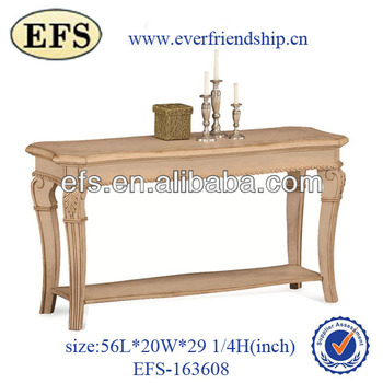 unique solid wood corner table (EFS-163608)