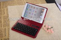 2013 crocodile pattern removable bluetooth keyboard case for ipad 2