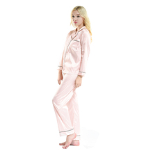 two piece nighty satin fabric pyjamas polyester silk like pyjamas set sumer sleeping clothes 2016 new style for young women
