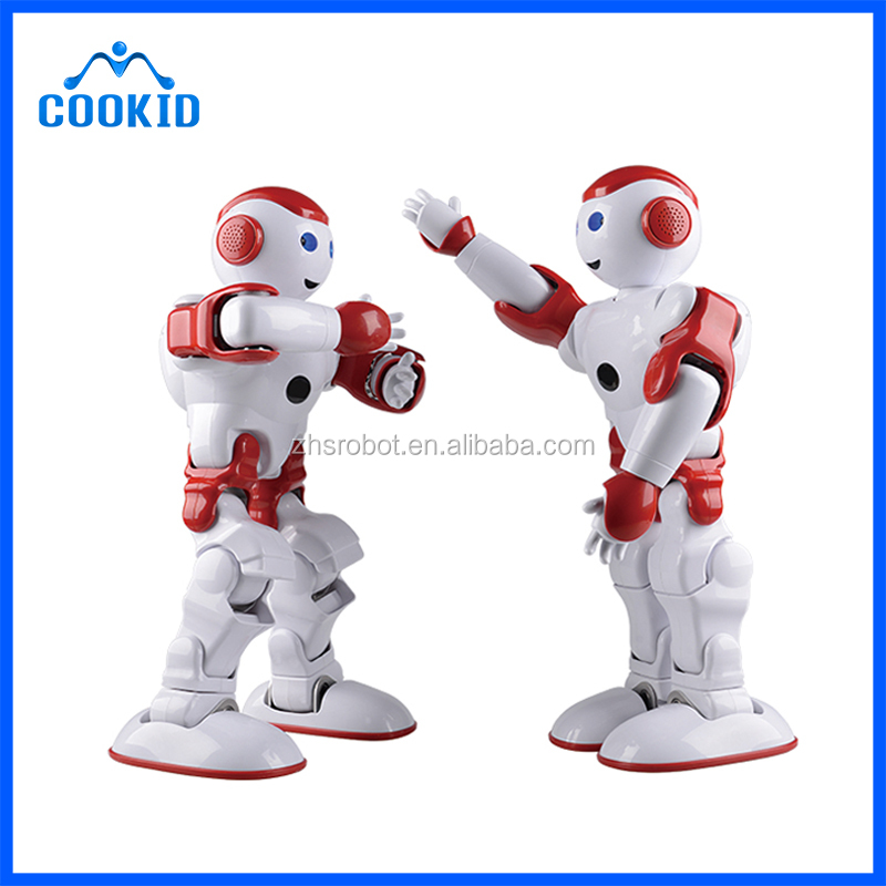 High Tech 17 Dof Humanoid Toy Robot Educational Robot Kit With Light