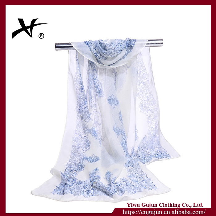 Wholesale plain white silk scarves for dyeing