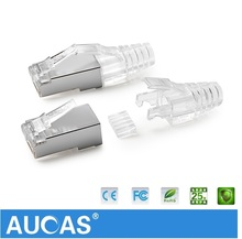 dual male to female cat6 glass 4-pin rj45 8P plug connector