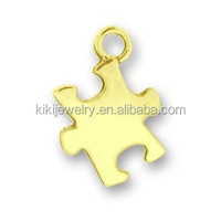 interesting fashion jewelry wholesale jigsaw puzzle charm