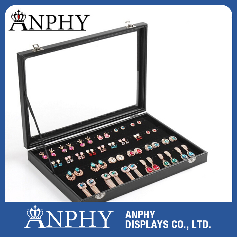A25 Cosmetic Display Stand Boxes Jewelry Packaging Carrying Cases Earings Storage Box Jewelry Organizer Wholesale