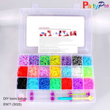 Wholesale Neon Elastic DIY Rain Rubber Band Weaving Bracelet Cheap Crazy Loom Rubber Bands
