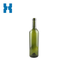 Dark Green Bordeaux 750ml Glass Wine Bottle