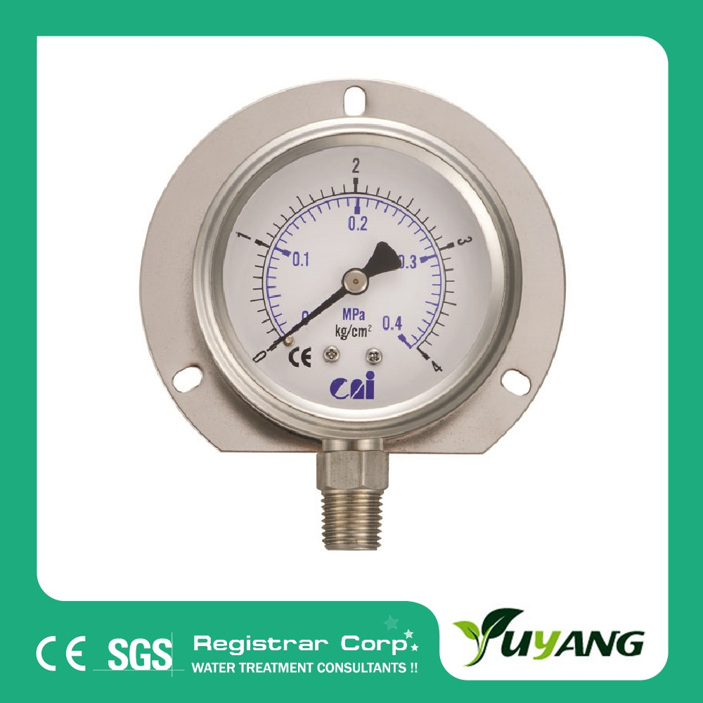 321-223 oil filled Bourdon tube pressure gauge for RO system