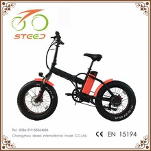 light weight green 20'' fat tyre folding electric bicycle bike