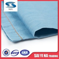 Light weight cotton stripe cotton fire retardant denim jeans fabric material