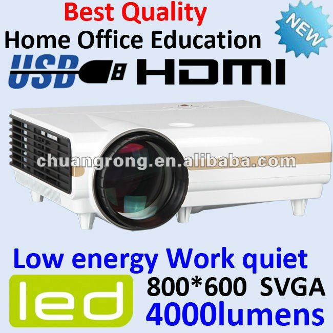 New Portable LED 4000lumens Multimedia LCD Video Projector