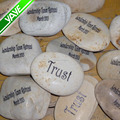 Natural Garden River Stone Engraved Stones