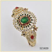 latest design diamond rhinestone bangl indian gold plated bangles
