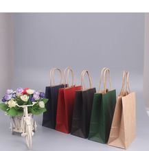 Brown kraft handle paper bags for grocery