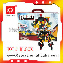 shantou factory educational toy plastic building block series robot for children