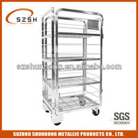 dairy milk transport trolley for cargo warehouse and supermarket