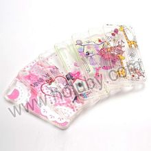 Plastic Printing Flowers Surface +TPU Frame Back Cover Transparent Case for iPhone 5 5S Cover
