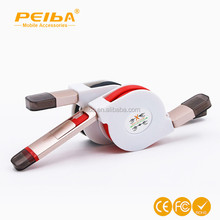2 in 1 retractable usb data cable, compatible with devices with micro usb port