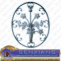 rosette ornamental wrought iron decoration fence gate and window rail