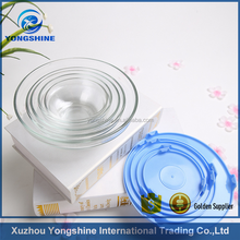 5 pcs glass bowl set , glass mixing bowl supplier by factory directly