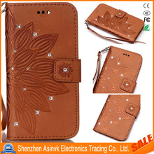 Fashion Pattern Shockproof Card Slots & Kickstand Wrist Strap Leather Case For Sony Xperia X Performance/XP