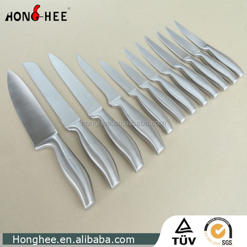 High Quality 12Pcs Stainless Steel Steak with Stainless Steel Handle