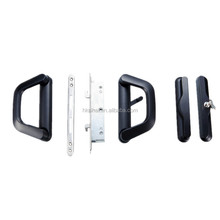 Black /white color aluminium docking with key and lock body of luxury sliding door handle for door&window accessories HK-SH002