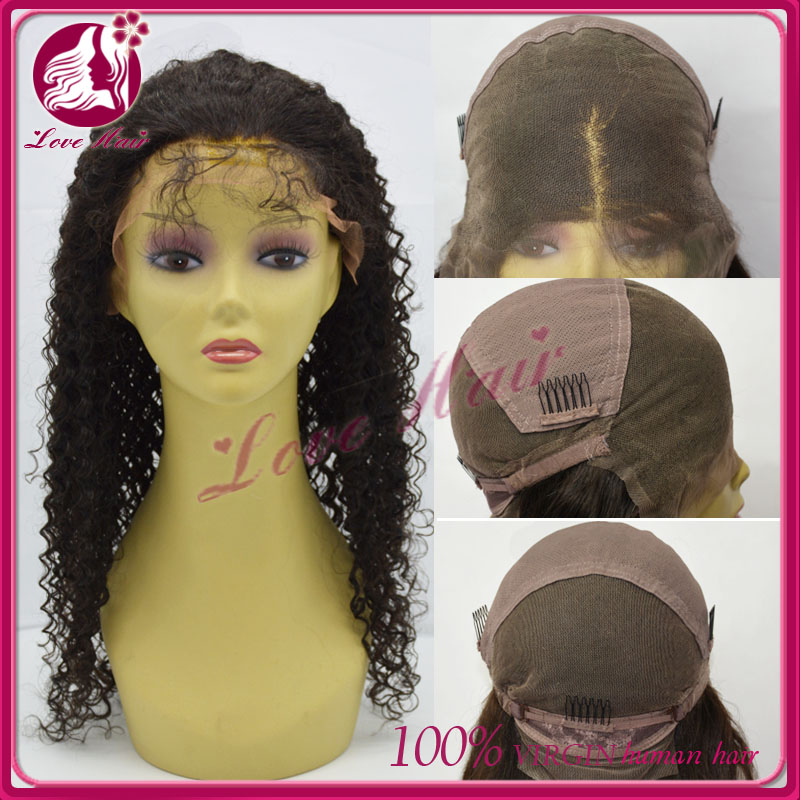 Hot sale stock wavy brazilian virgin hair party wig