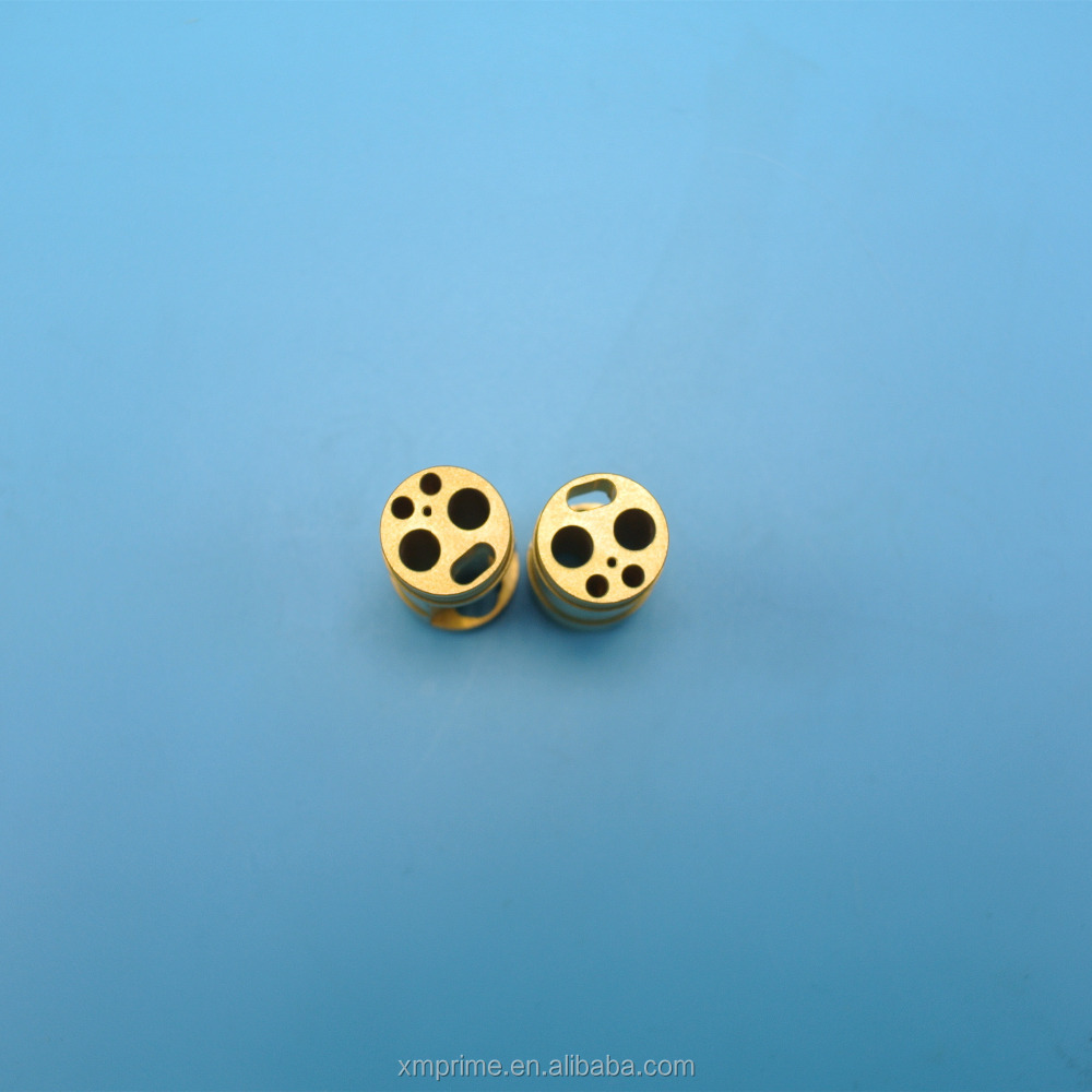 Brass material CNC precision machining medical equipment parts , surface passivation treatment