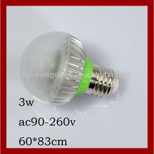 3w led light bulb e27/e26/e14/b22 ac90-260 china supplier mini bulb led lamp e27