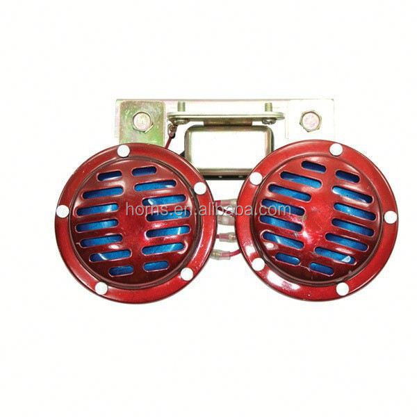 90mm red best selling motorcycle horn 12V with auto relay