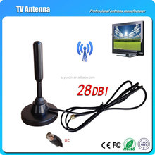 hot sale Active Digital indoor dvb-t Antenna with magnetic base and signal amplifier