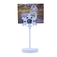 Factory direct cube metal paper photo holder card memo clip holder photo holder memo clips