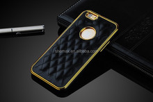 Luxury two mobile phone leather cover case for iPhone 6/6 Plus