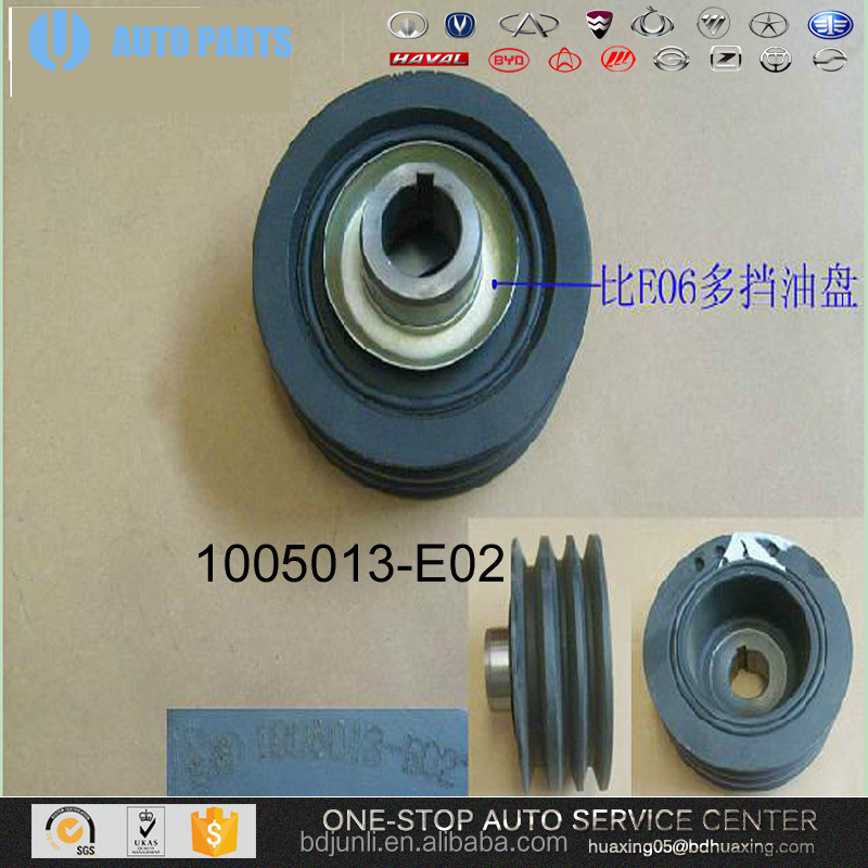 Chinese Car 1005013-E02 SHOCK ABSORPTION PULLEY-CRANKSHAFT OF Great Wall Auto Spare Parts