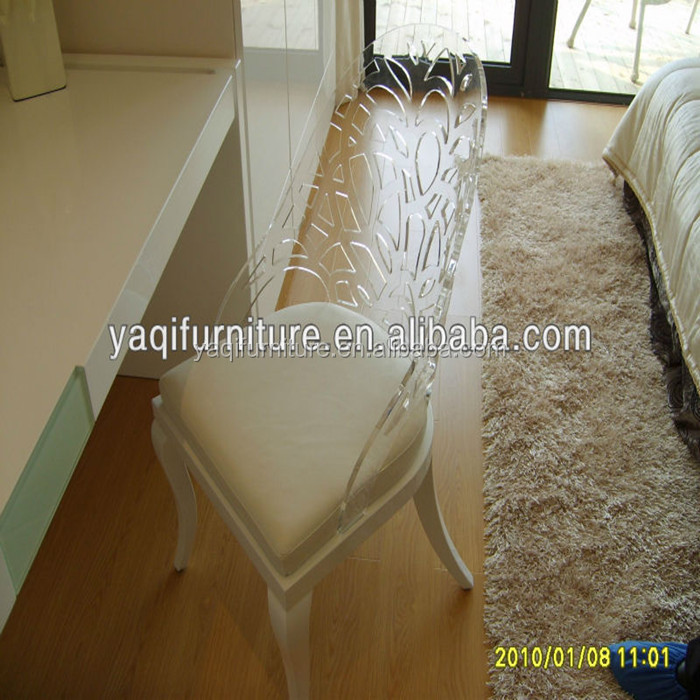 Hot sale Z-shaped acrylic clear banqueting chair