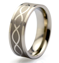New design sandblasted matte celtic stainless steel jewelry 8mm titanium ring
