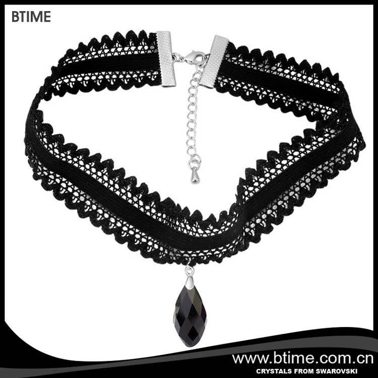 Wholesale hot sale lace style collar necklace crystals from Swarovski
