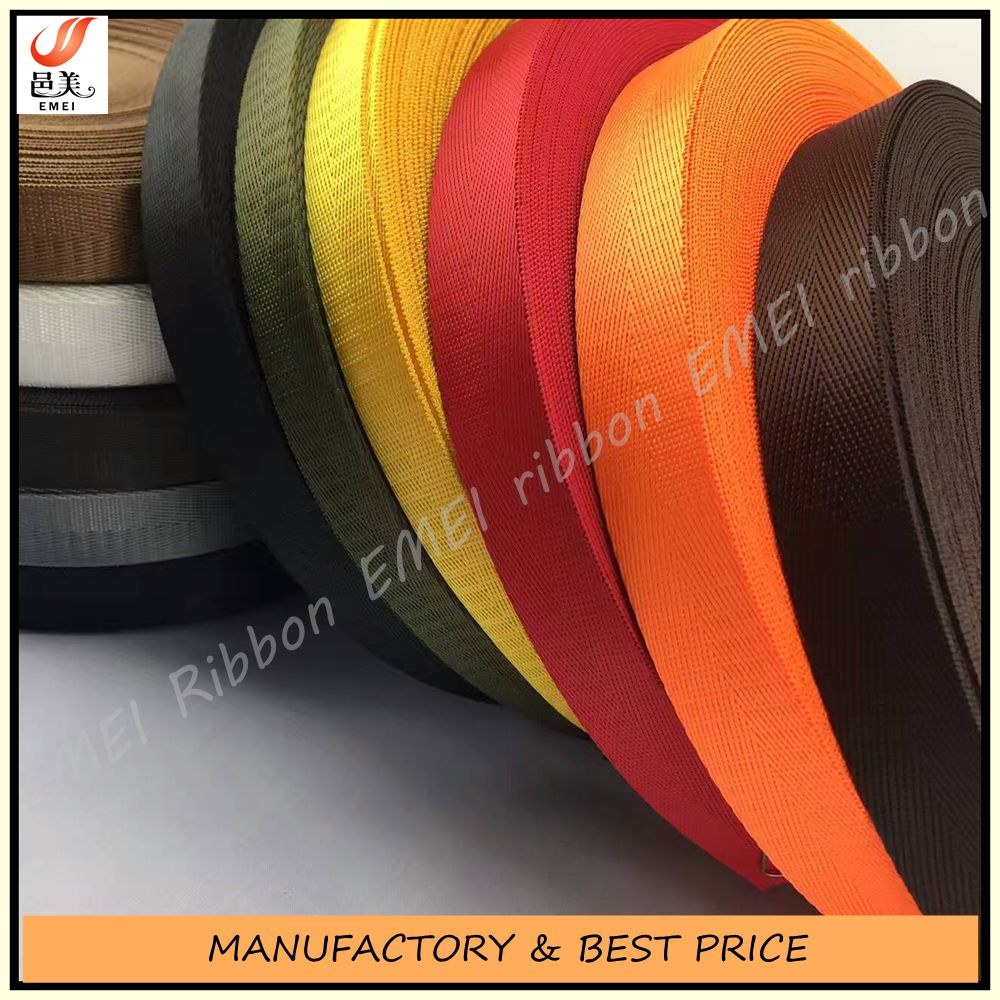 High quality custom double face V weave polyester woven ribbon