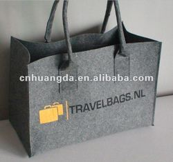 Grey felt bag with logo printing