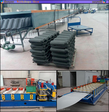 Hot sale in africa roof tile making machine price/stone coated steel roofing tile forming machine line