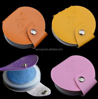 24 Slots Leather Nail Art Stamping Plate Case,Folder Nail Stamp Template Holder Album Storage for 5.6cm round plate