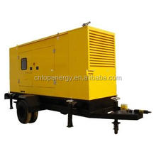 160kw selling and rental cheap prize soundproof enclosed trailer generators silent 200kva diesel generator
