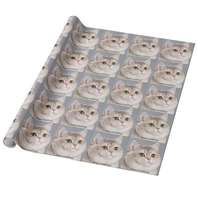 Custom Printed Gift Wrapping Paper Heavy Breathing Cat Wrapping Paper