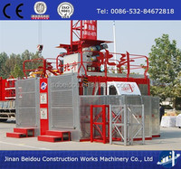 ss100/100 construction van cargo lift / building material elevater