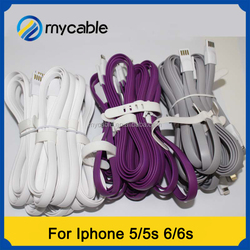 Mycable Soft flat USB cable for Iphone 5/5s/6/6s usb cable New style