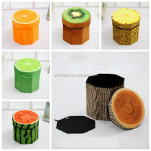 e multifunctional stool folding cloth fruit storage box/stool feet Plush thickened stool