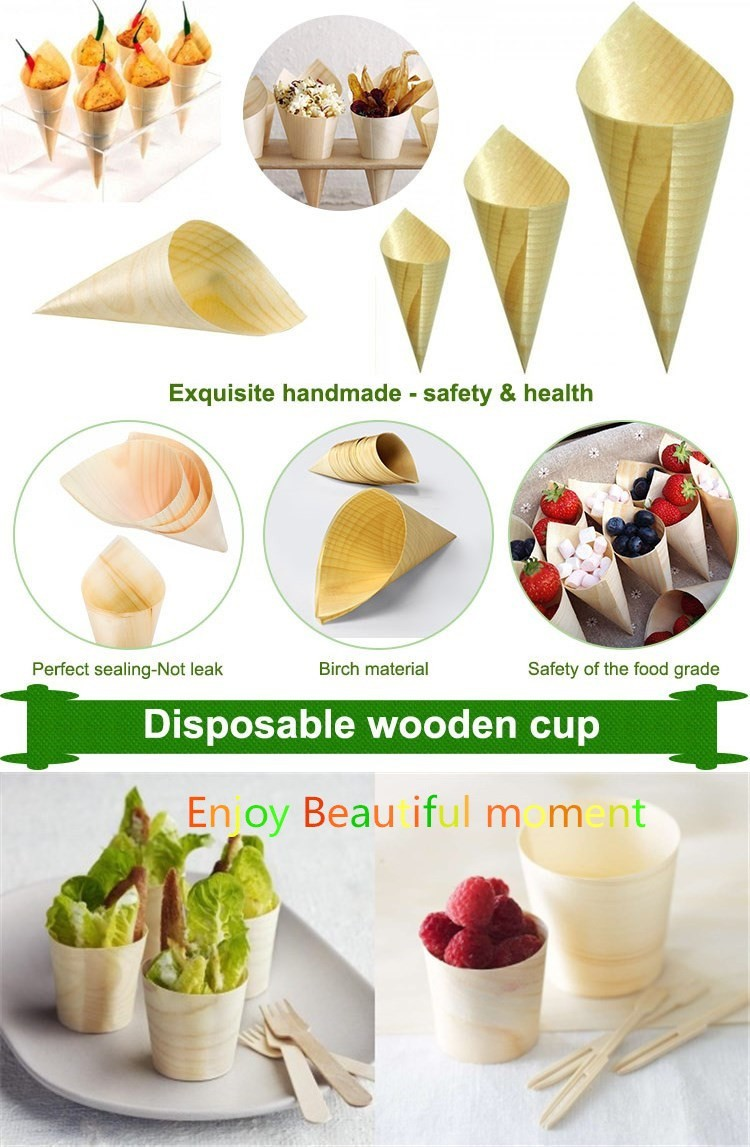 Fancy Disposable Bamboo Wooden Plates Wooden Pine Boat