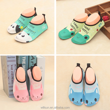 wholesale lightweight teenager cute cat bear cow frog quick animals surfing children water sports aqua socks shoes